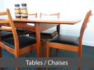 onglet tables et chaises